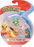 Pokemon Battle  Figure Set Flareon+Munchlax+Jigglypuff