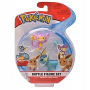 Pokemon Battle  Figure Set Vaporeon+Eevee+Aipom