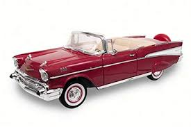 Road Signature Collection 1957 Chevrolet Bel Air convertible punainen