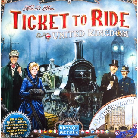 Ticket to Ride United Kingdom (lisäosa peruspeliin Ticket to Ride)
