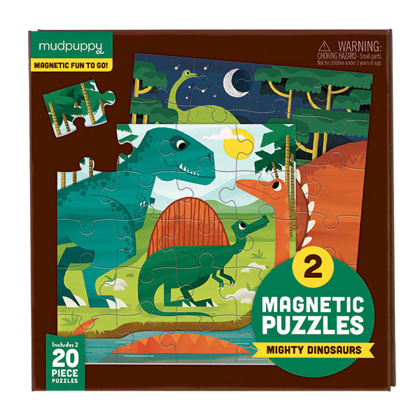 2 magnetic puzzles Mighty Dinosaurs