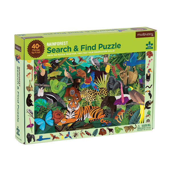 Mudpuppy Search & Find Puzzle Sademetsä