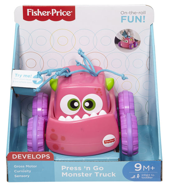 Fisher-Price Press´n go monsteri auto