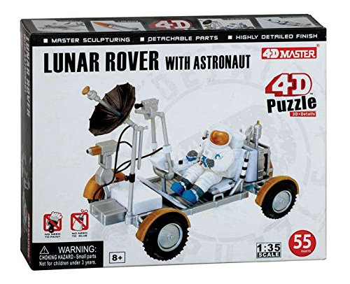4D Puzzle Lunar Rover with Astronaut