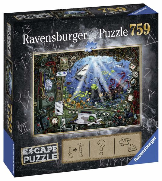 Ravensburger Escape Palapeli Submarine 759 palaa
