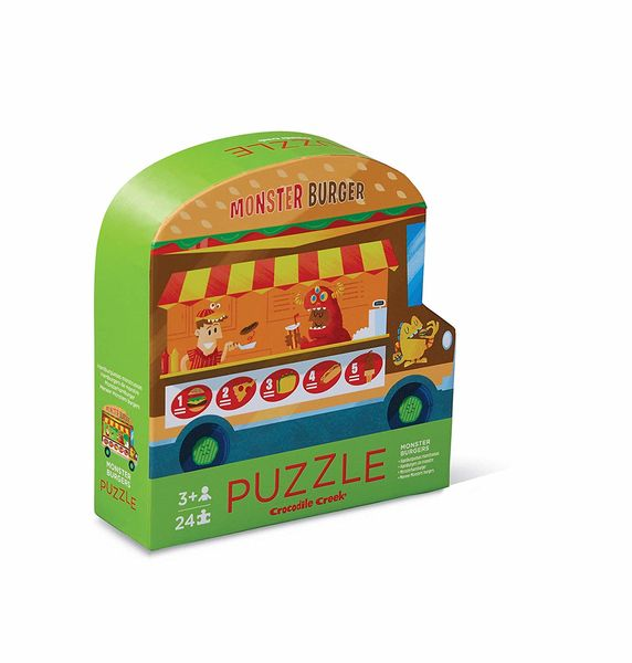 Two sided Puzzle Monster Burgers 24 palaa