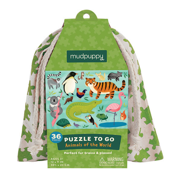 Puzzle to Go/ Animals of the World Maailman eläimet