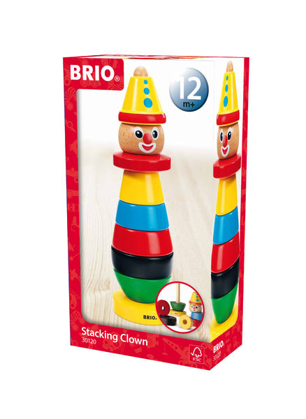 Brio Stacking Clown Payaso Pinottava Pelle 30120