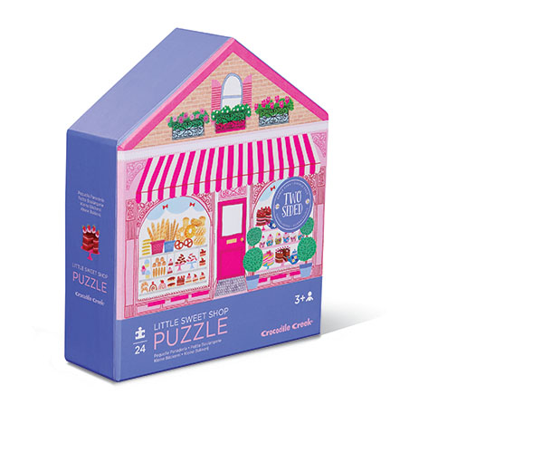 Two sided puzzle Little Sweet Shop 24 palaa