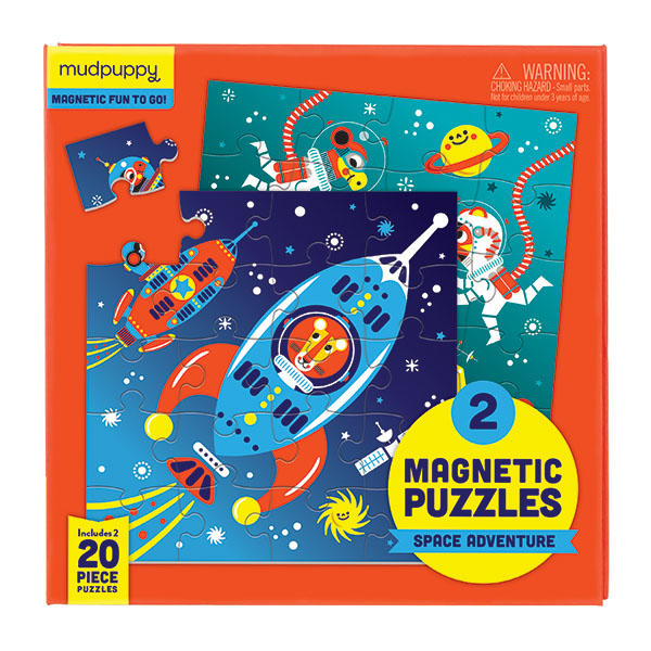 2 magnetic puzzles Space Adventure