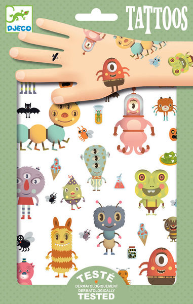 Djeco tatuointi Monsters